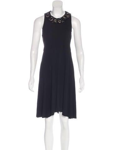 Céline Embellished Sleeveless Dress None