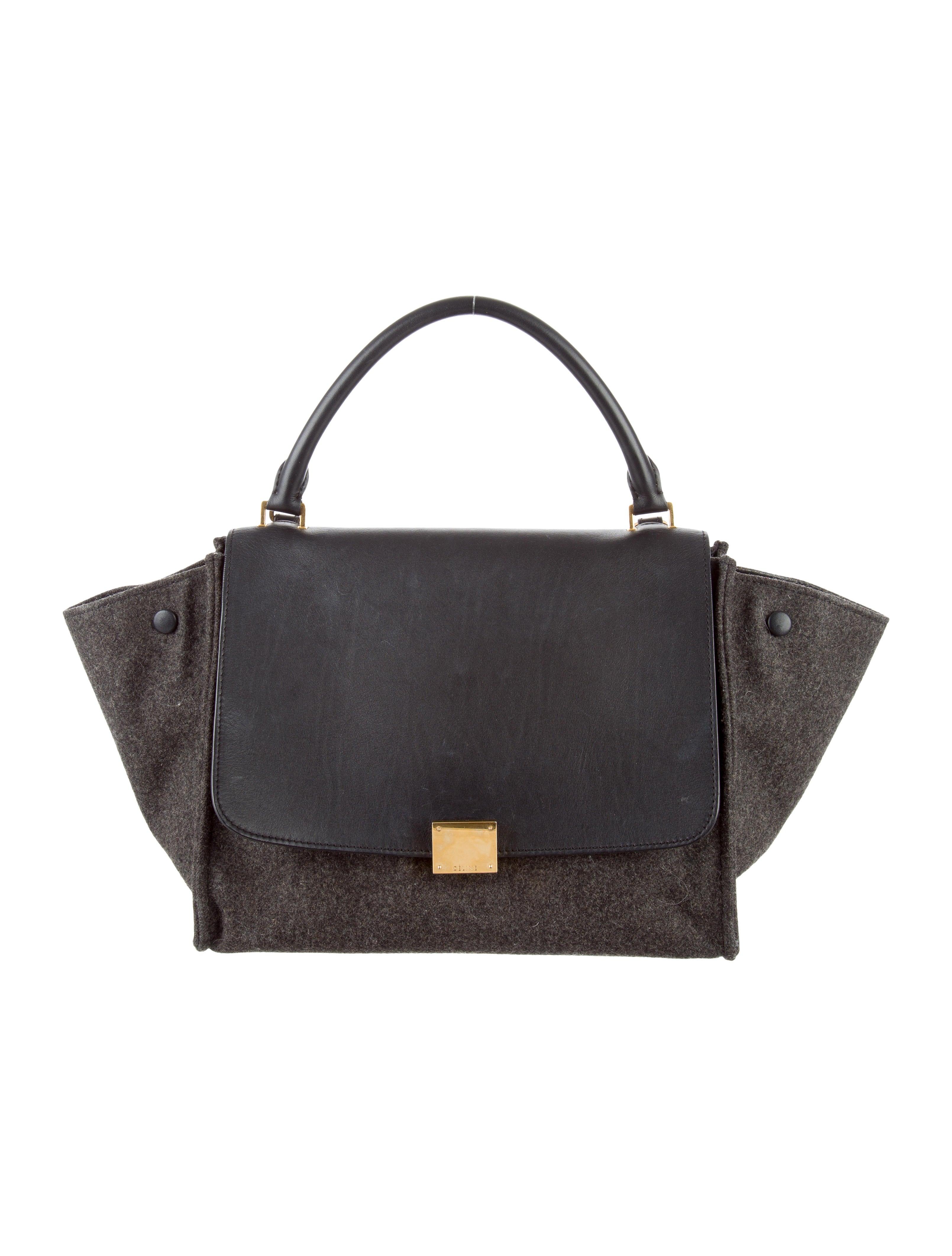 Celine Céline Medium Wool Trapeze Bag - Handbags - CEL47903  f1c4fed112a74