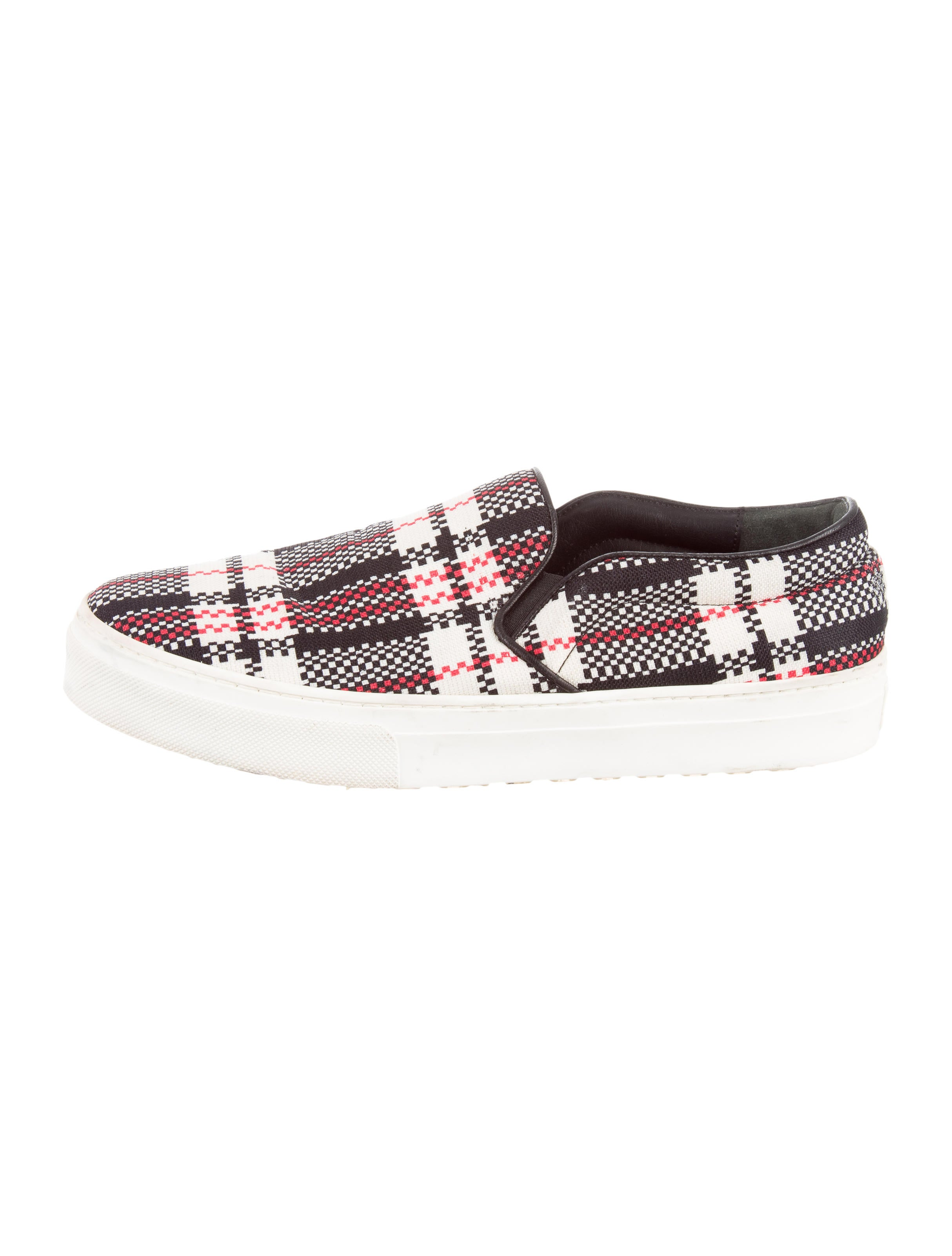 c 233 line plaid slip on sneakers shoes cel48053 the