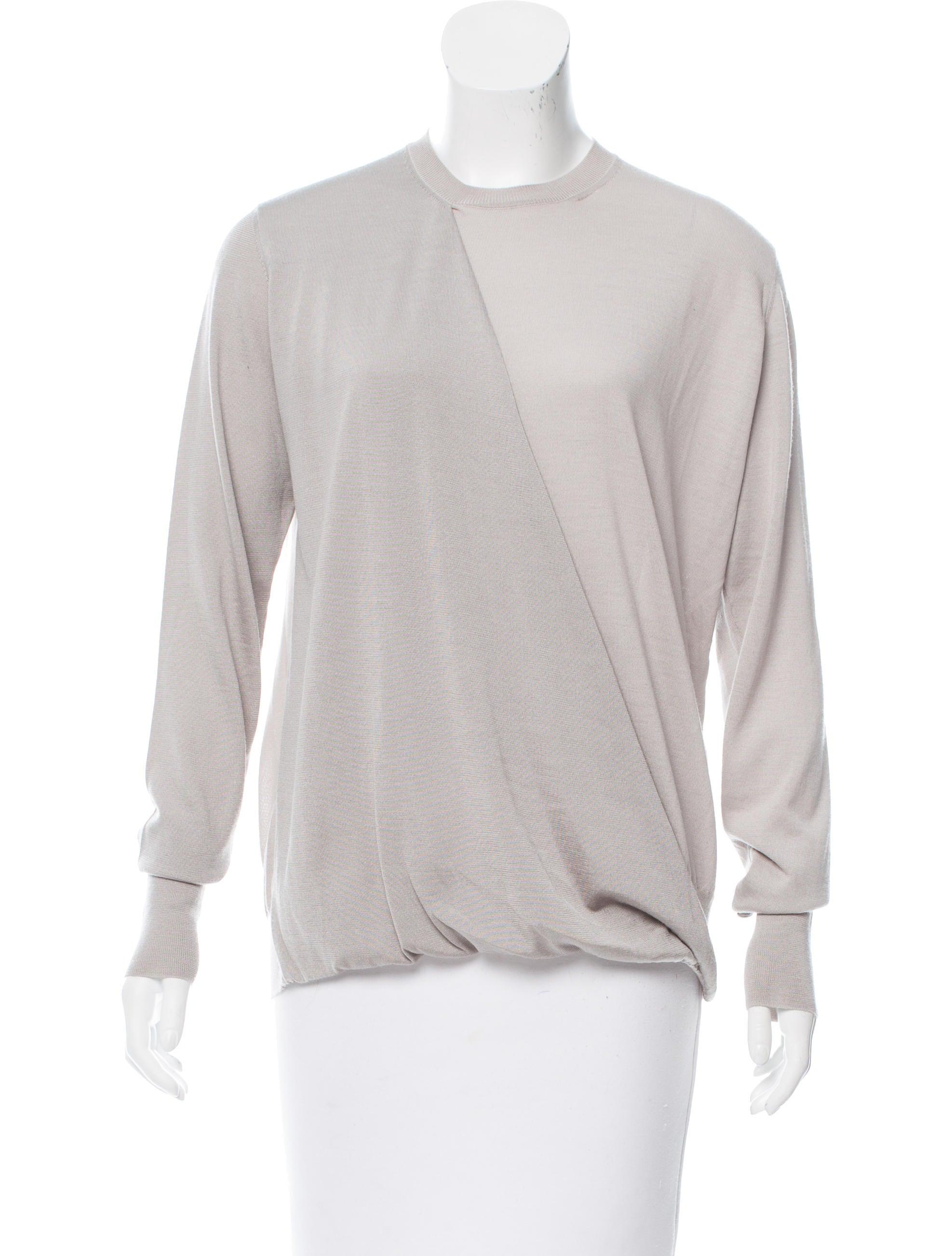 C line wool silk blend long sleeve top clothing for Best wool shirt jackets