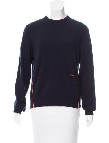 Céline Colorblock Cashmere Sweater None