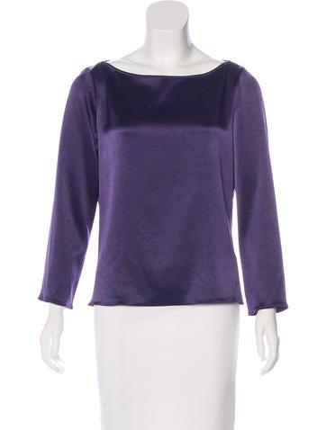 Céline Knit Long Sleeve Top None