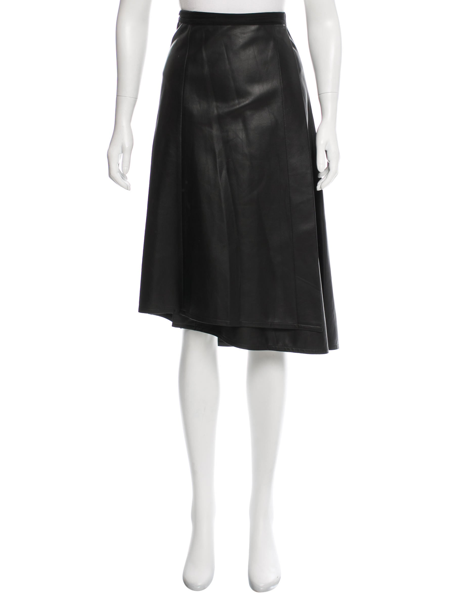 c 233 line leather wrap skirt clothing cel48768 the realreal
