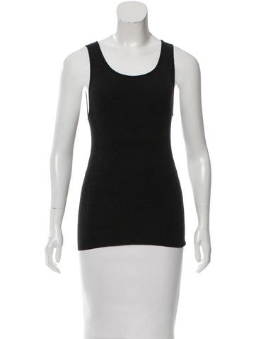 Céline Sleeveless Knit Top None