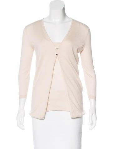 Céline Three-Quarter Sleeve Cashmere Top None