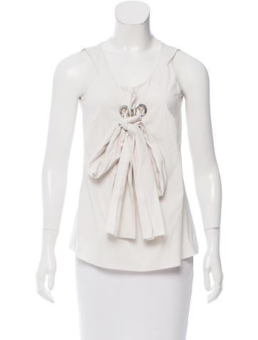 Céline Embellished Sleeveless Top None