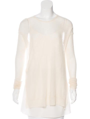 Céline Semi-Sheer Layered Sweater None