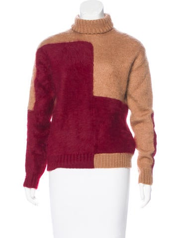 Céline Angora & Cashmere-Blend Sweater None