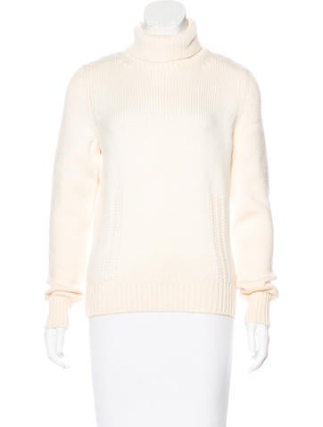 Céline Wool Turtleneck Sweater None