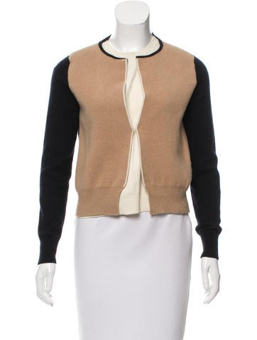 Céline Layered Wool Cardigan None