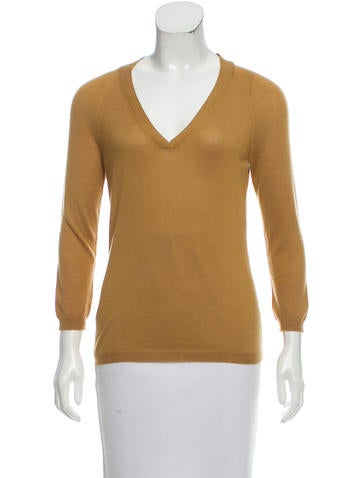 Céline Cashmere V-Neck Sweater None