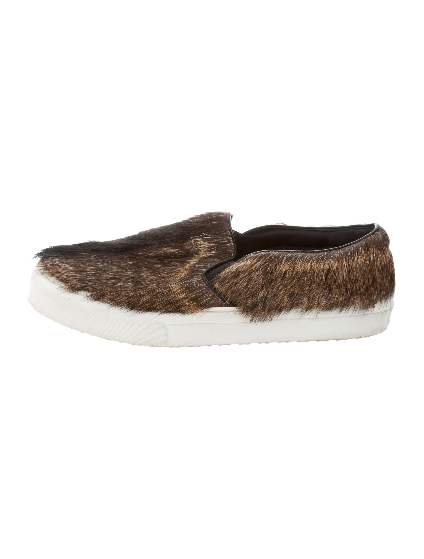 Cu00e9line Goat Fur Slip-On Sneakers - Shoes - CEL52599 | The ...
