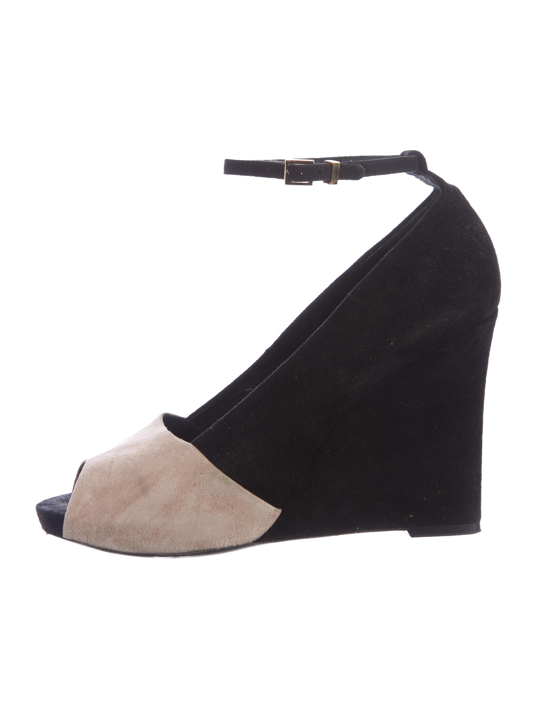 Céline Suede Peep-Toe Wedges cheap buy authentic sale very cheap clearance pre order enjoy cheap online Er9g0hNP0I