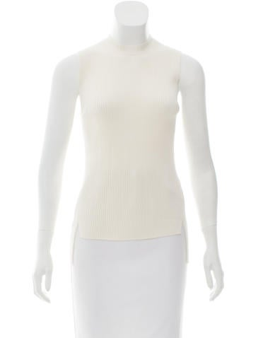 Céline Sleeveless Rib Knit Top w/ Tags None