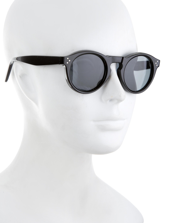 4471a167e6111 Céline Bevel Round Sunglasses - Accessories - CEL54225