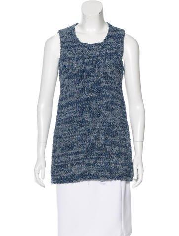 Céline Sleeveless Knit Top None