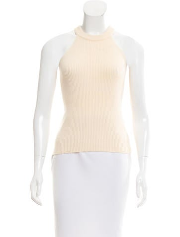 Céline Cashmere Sleeveless Top None