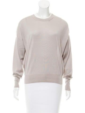 Céline Long Sleeve Wool & Silk-Blend Top None