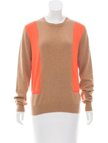 Céline Colorblock Cashmere Sweater None