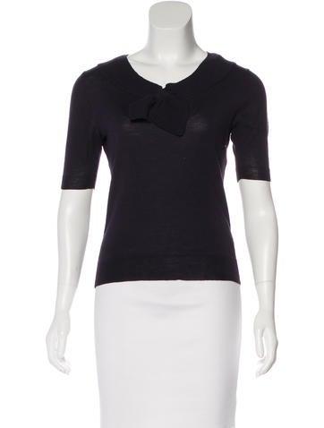 Céline Wool Tie-Knot Sweater None