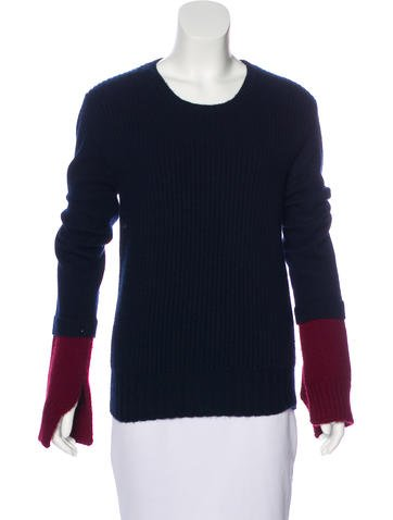 Céline Cashmere Colorblock Sweater None
