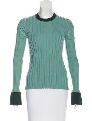 Céline Two-Tone Knit Sweater None