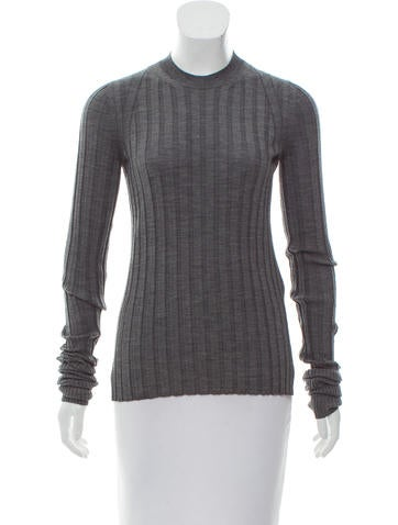 Céline Rib Knit Wool Top None