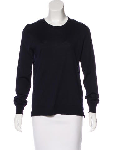 Céline Wool & Silk Long Sleeve Sweater None