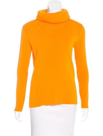 Céline Rib Knit Turtleneck Sweater None