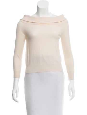 Céline Off-The-Shoulder Cashmere Top None