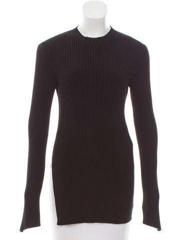 Céline Rib Knit Cutout Sweater None