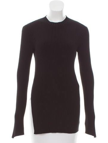 Céline Rib Knit Cutout Sweater None