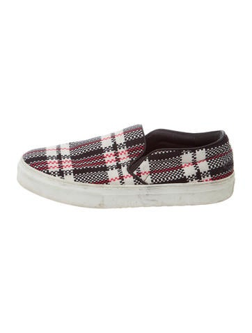 c 233 line plaid slip on sneakers shoes cel57231 the