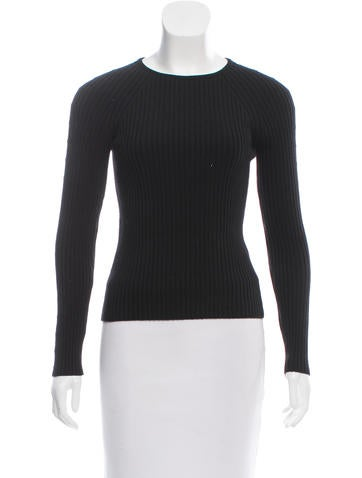 Céline Ribbed Wool Sweater None