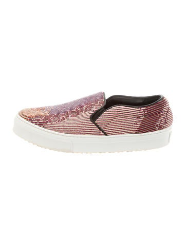2014 unisex in China cheap price Céline Printed Slip-On Sneakers w/ Tags extremely cheap online buy cheap choice cheap sale 2014 zhhkM3d