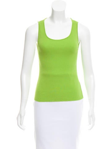 Céline Sleeveless Ribbed Top None