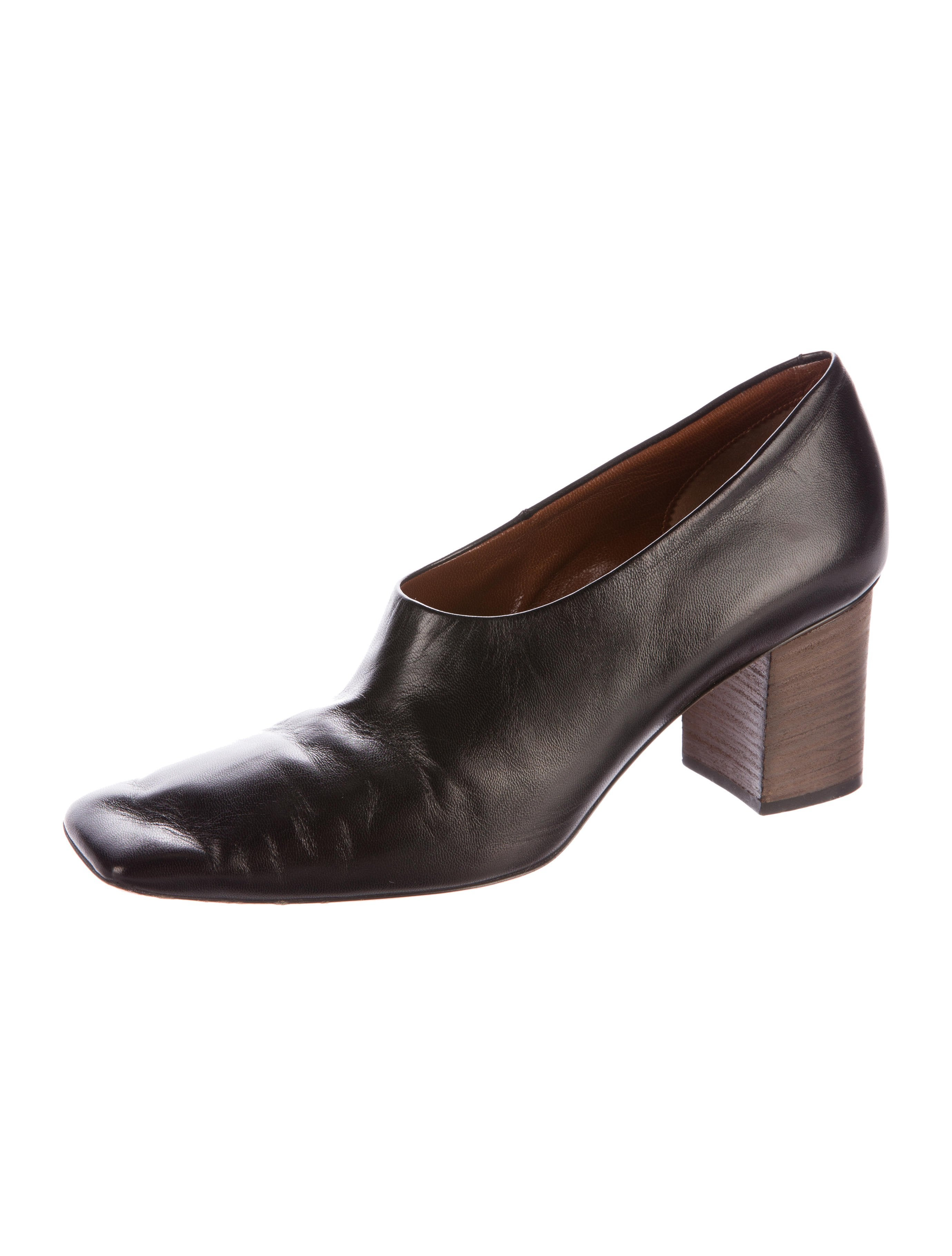 good selling shopping online with mastercard Céline Square-Toe Leather Pumps cheap sale oGp1txc