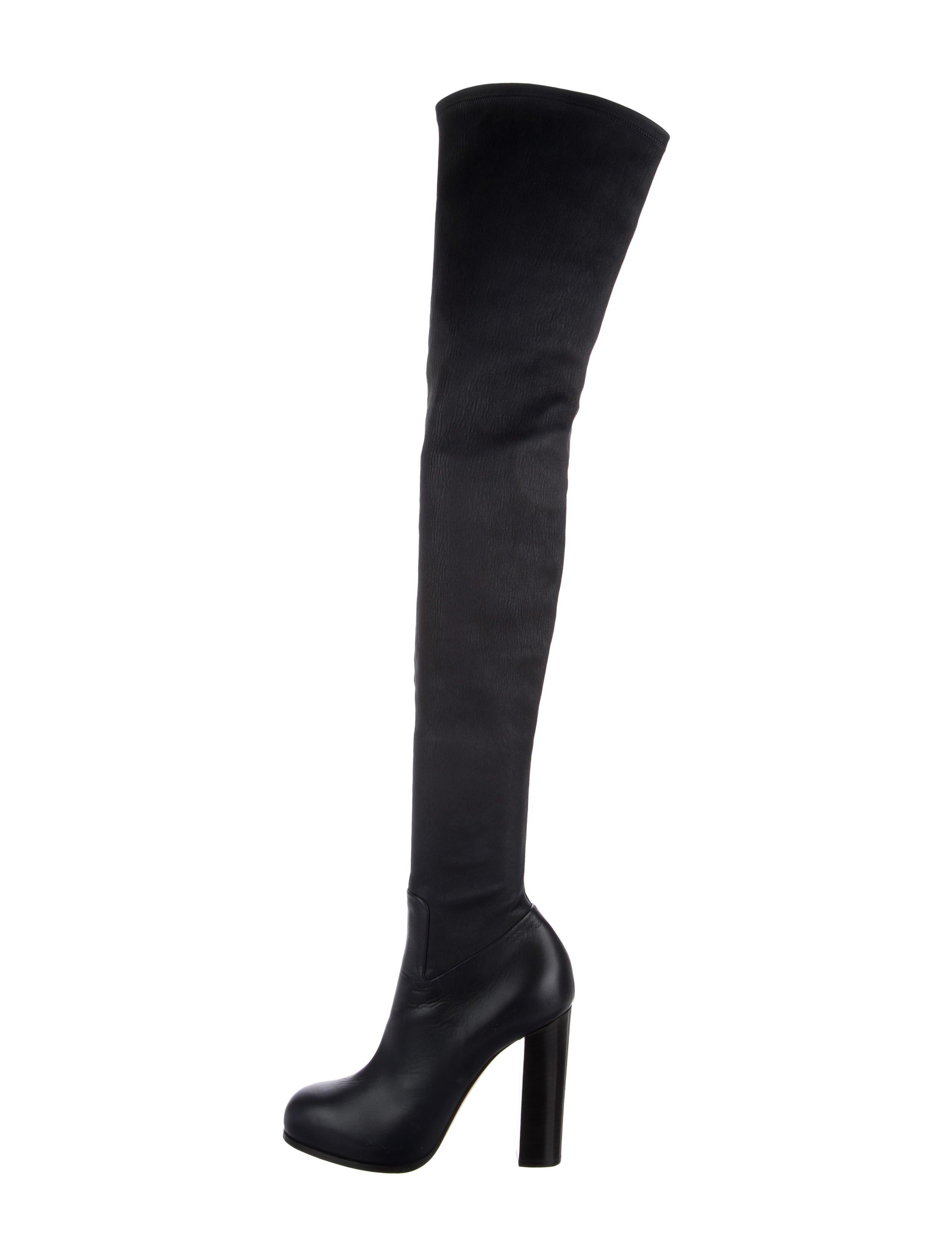 order for sale Céline Leather Platform Thigh-High boots explore cheap price fHTbq8B6fF