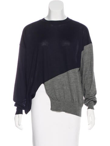 Céline Colorblock Wool & Silk-Blend Sweater None