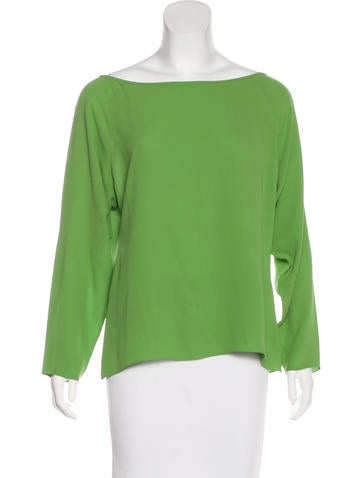 Céline Silk Crepe Top None