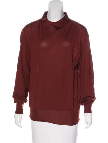 Céline Wool Collared Sweater None