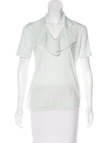 Céline Short Sleeve Wool Top w/ Tags None