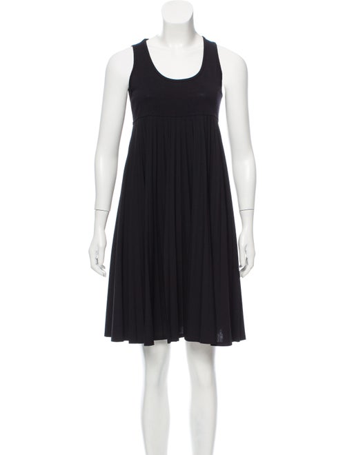 Céline Wool Empire Waist Dress Black