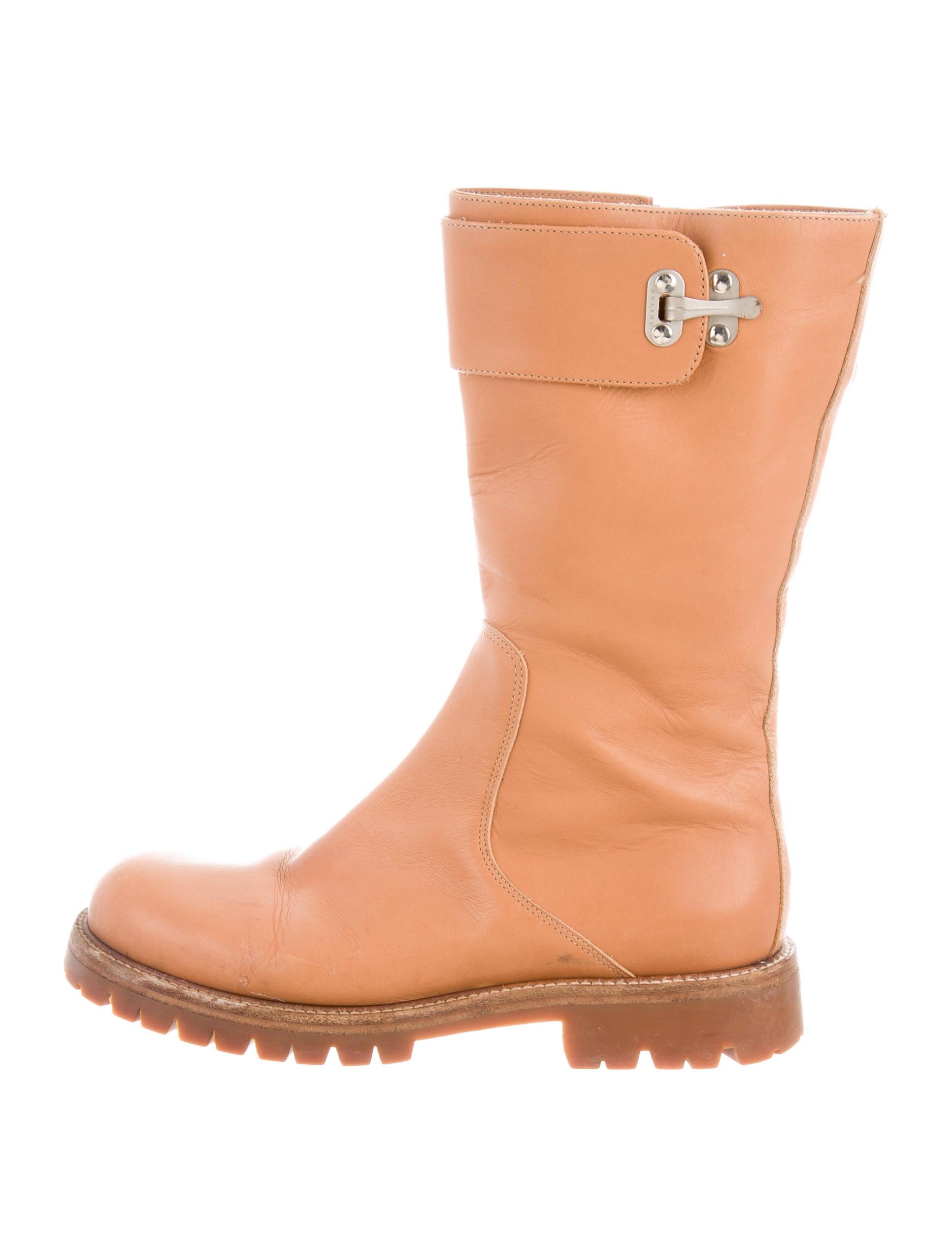 Céline Leather Mid-Cal Boots sast sale online clearance visa payment buy cheap best wholesale Q4tePd