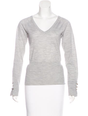 Céline Knit Wool Sweater None