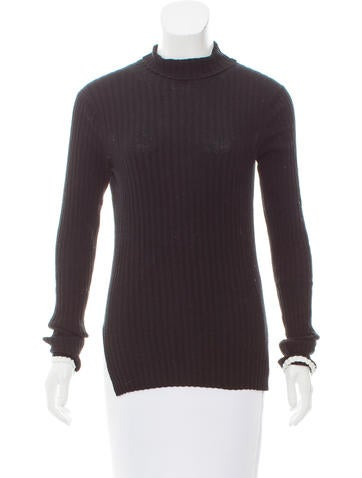 Céline Ribbed Turtleneck Sweater None