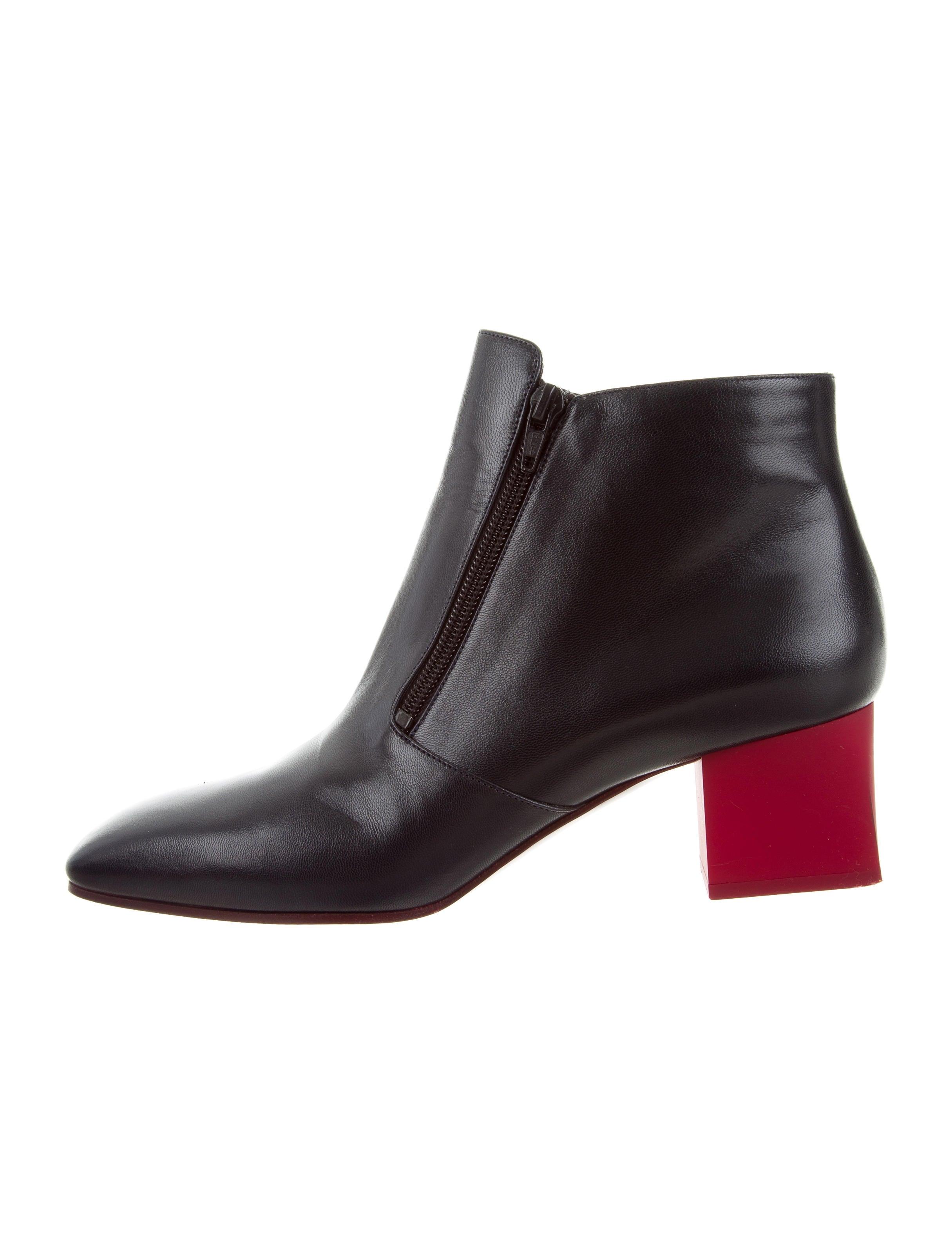 cheap sale professional cheap perfect Céline Leather Square-Toe Ankle Boots sale affordable 2014 new store cheap online RUqNqG