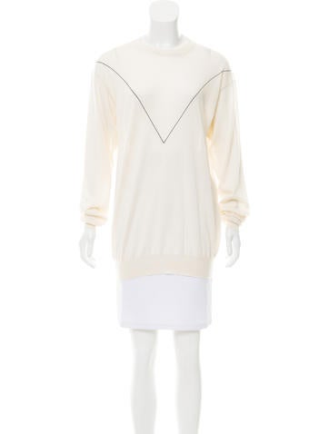 Céline Geometric Cashmere Sweater None