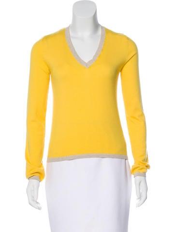 Céline V-Neck Knit Sweater None