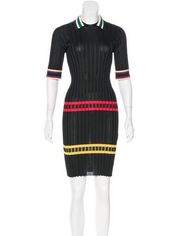 Céline Rib Knit Collared Dress None